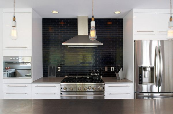 Black Kitchen Backsplash Tiles