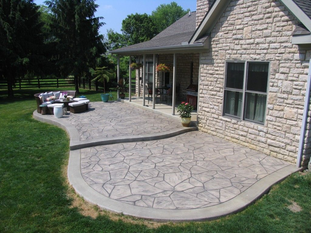 Stamped Concrete Driveways Patios Walkways Pool Deck And Porches King Concrete Increte Concrete Patio Designs Patio Layout Patio Design
