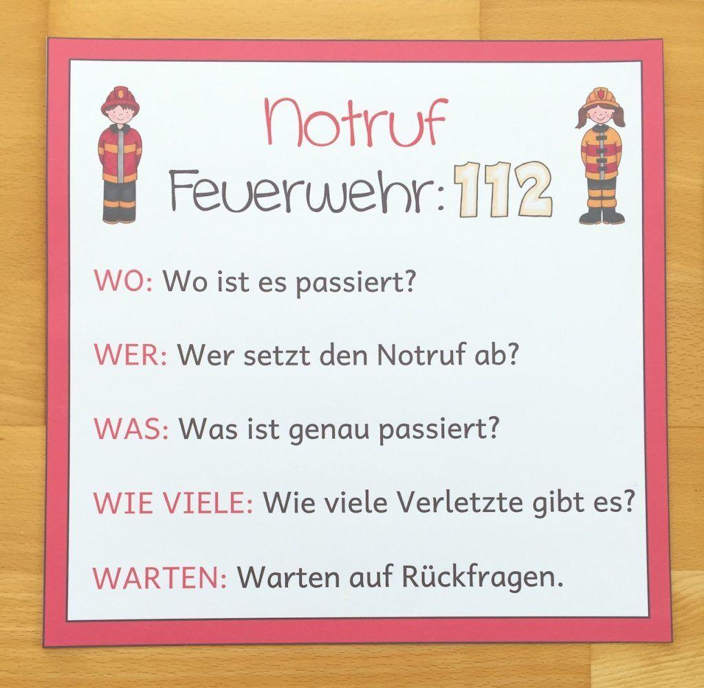 Notruf absetzen in der Grundschule   Grundschule, W fragen, Erste ...