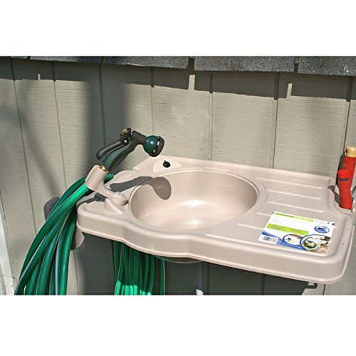 Outdoor Sink Hooks Up With Your Hose Genius Idea Outdoor Sinks