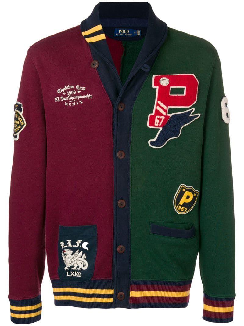 Polo Ralph Lauren Varsity Jacket, Navy at John Lewis