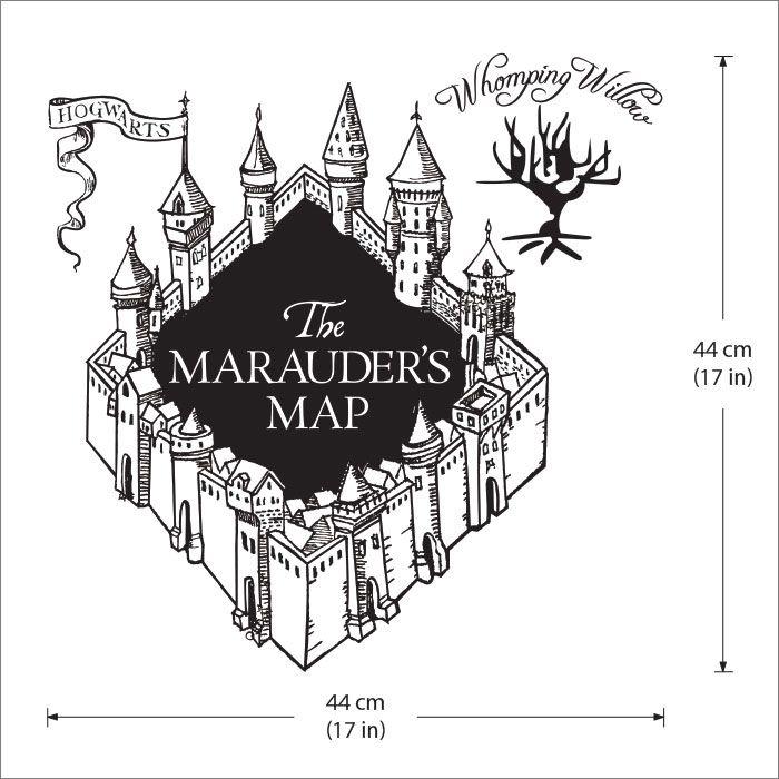 Karte Des Rumtreibers Harry Potter V3 Wandaufkleber Wandtattoo Wd