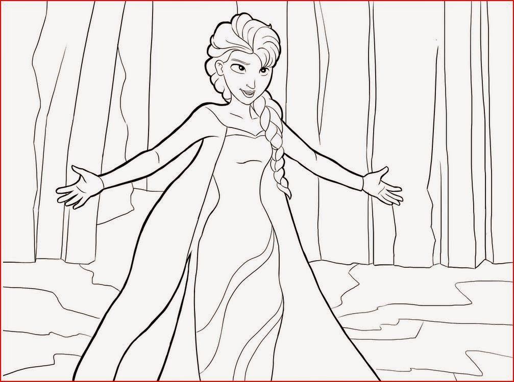 Princess Elsa Boyama sayfaları