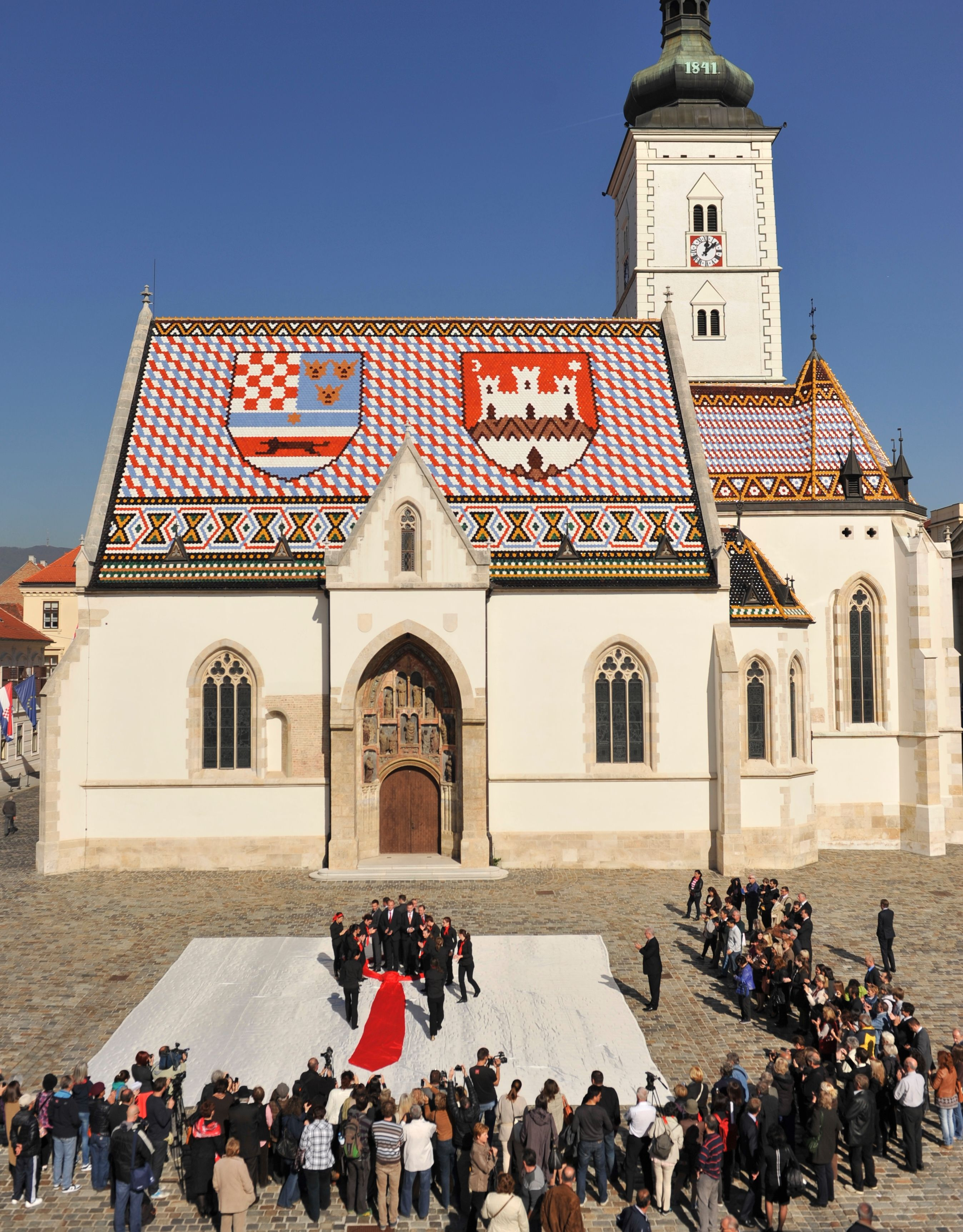 An Attractive Ceremony Was Held On October 18th At St Mark S Square In Zagreb On The Occasion Of The Cravat Day The Central Part Zagreb House Styles Croatia