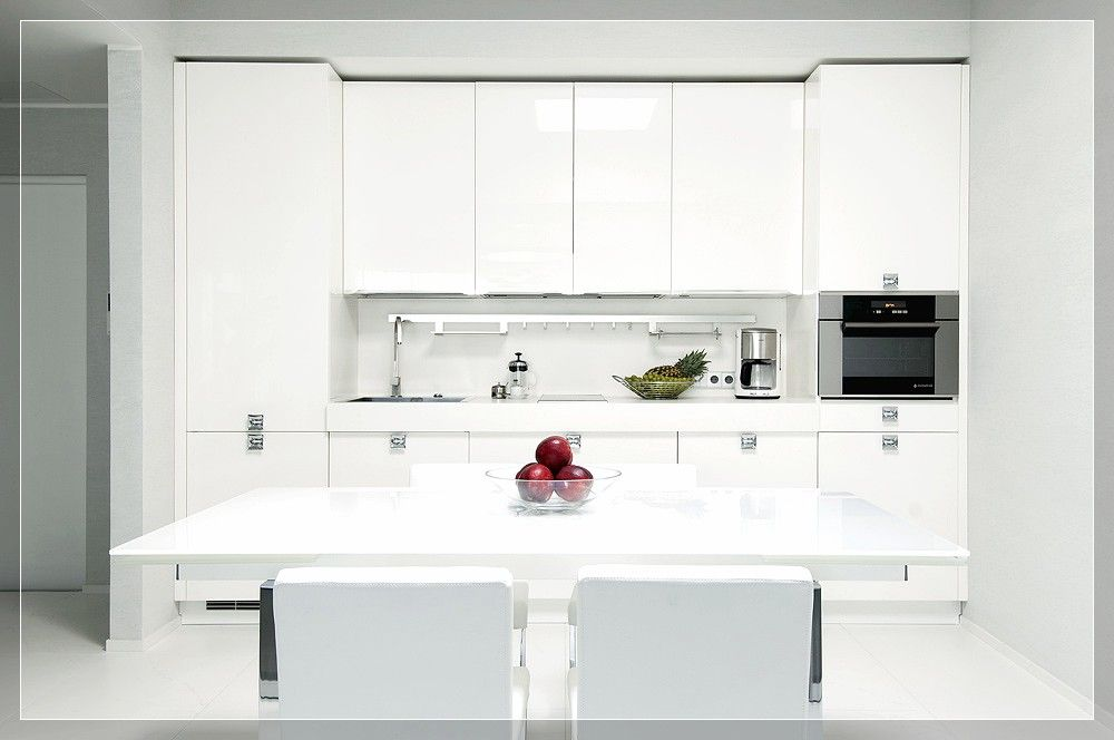 Ikea Small Kitchen Design Ideas, Kitchen High Gloss White With Modern  Dining Setting And Minimal Part 97