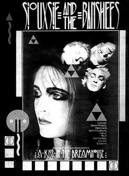 WOMENS GOTHIC DRESS SIOUXSIE SIOUX AND THE BANSHEES POST PUNK GIG FLYER S-XL