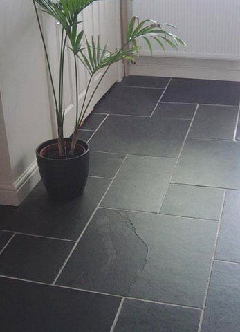 Black Slate Flooring That Just Looks Amazing Black Floor Tiles