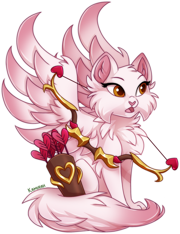Some more art of Castle Cats characters. This time of Amortina. The goddess of love. She was one of the story characters for the valentines event a while back. But she's currently back for the Anni...