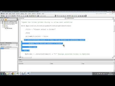 Excel VBA: Loop Through All Files in a Folder - This macro