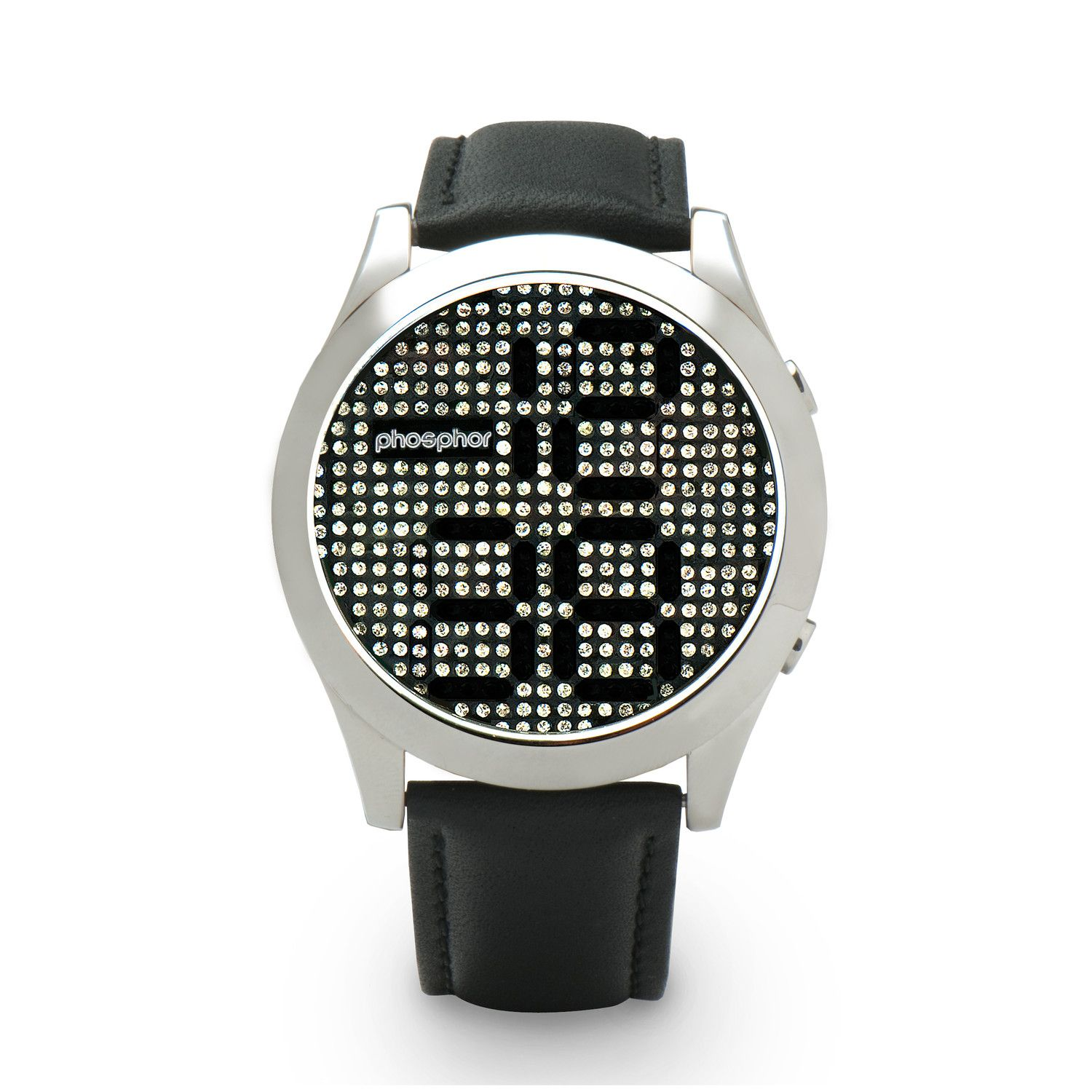 i want this!!!. - Swarovski crystals move to display the time.