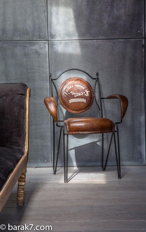 """Chaise industrielle """"Faites comme chez vous"""" - BARAK'7"""