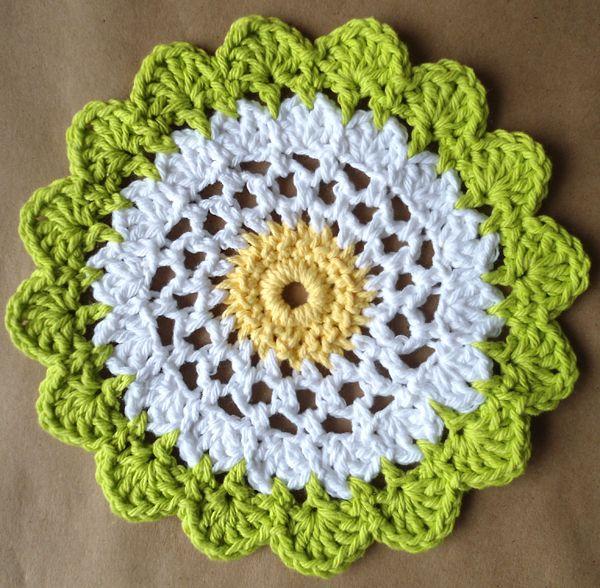 Best Free Crochet 320 Moon Flower Dishcloth Maggie Weldon