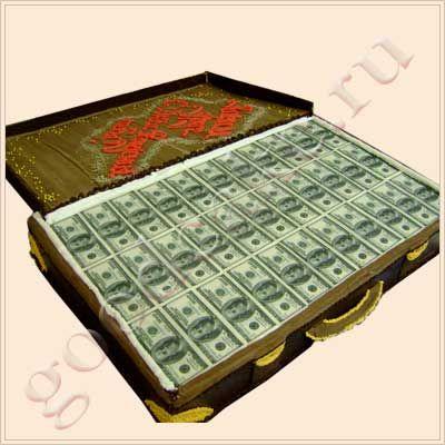 Заказать торт чемодан с деньгами