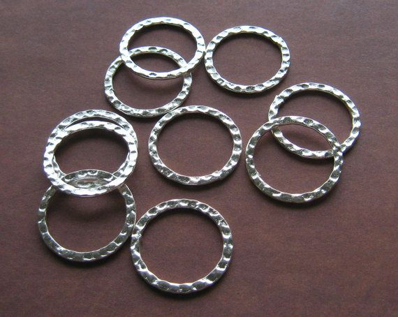 steampunk Silver Plated Dotted Hoops Drops Earring Links 6-20mm