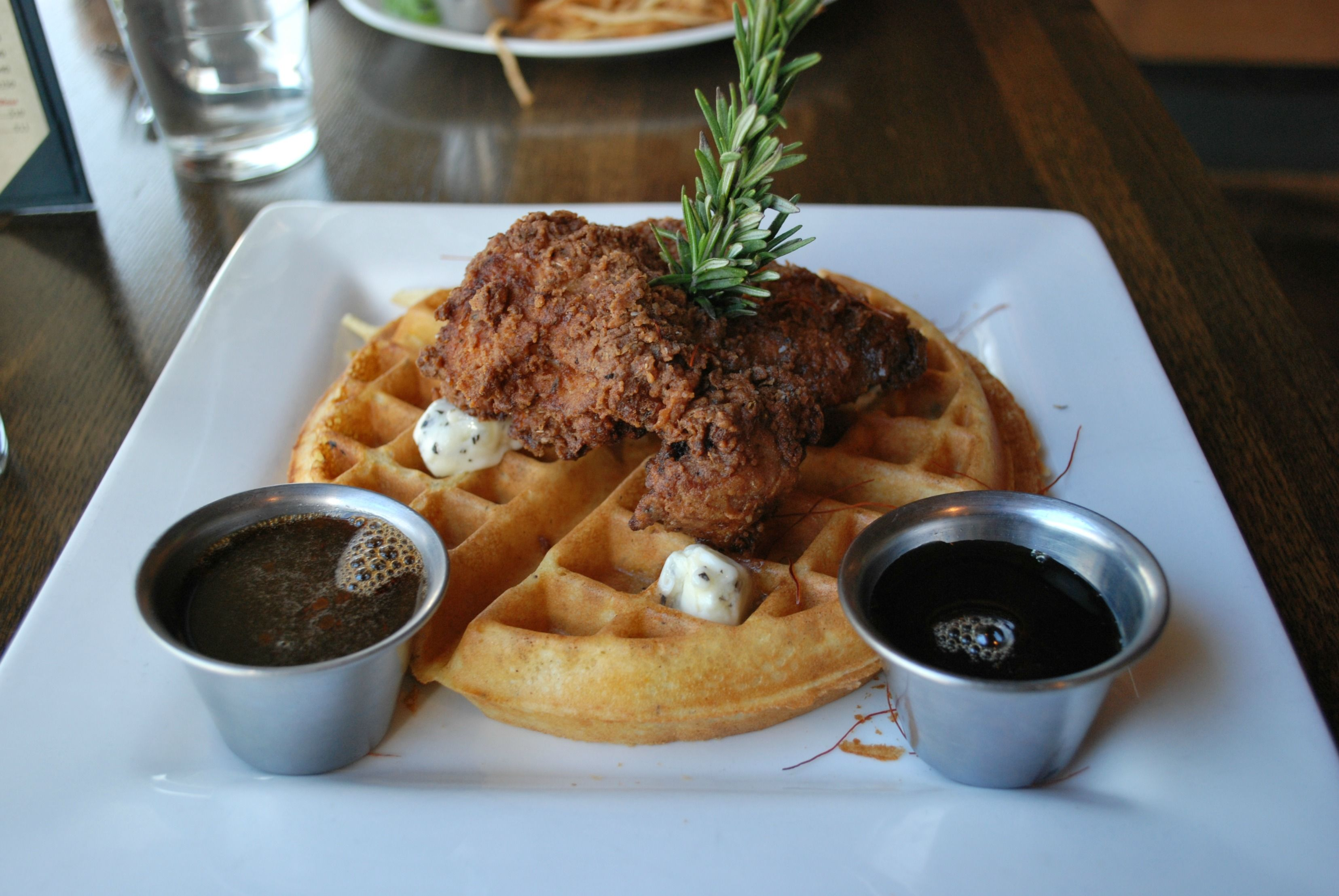 En Waffles At Fixture Kitchen Social Lounge In The Near Southside District Of Fort Worth Texas