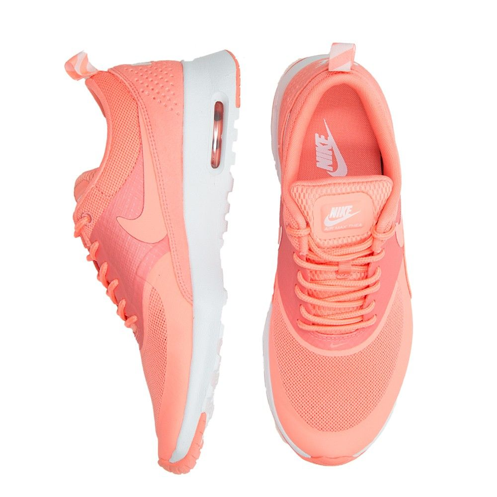 There are 4 tips to buy these shoes: peach trainers vibrant nike air max  thea coral nike air max thea coralpink nike sneaks pastel sneakers nike air  max ...
