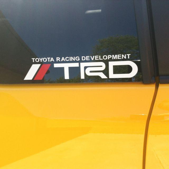 Scion Tc Rs 7 0 0845 Trd Decal Toyota Racing Development Scion Tc Toyota 4