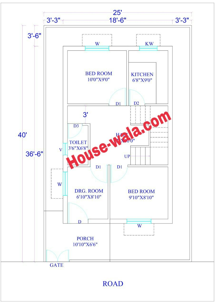 House Plan 25 X 40 feet (1000 Sq.Ft) | Housewala in 2019 ... on 1000 square foot house plans, 24x40 house plans, 25x60 house plans, 30x60 house plans, 45x45 house plans, 1 room house plans, 25 x 40 house plans, 25x35 house plans, 25x30 house plans, 40x40 house plans, 30x30 house plans, 10x30 house plans, 30x40 house plans, 25x25 house plans, 20x25 house plans, one room guest house plans, 15x30 house plans, small house plans, 50x70 house plans, 20x20 house plans,