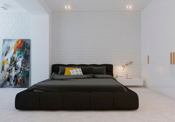 Minimalist mens bedroom in 2020 | Modern minimalist bedroom ...