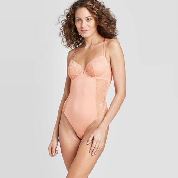 Photo of Women's Unlined Underwire Bodysuit – Auden™ Dark Peach