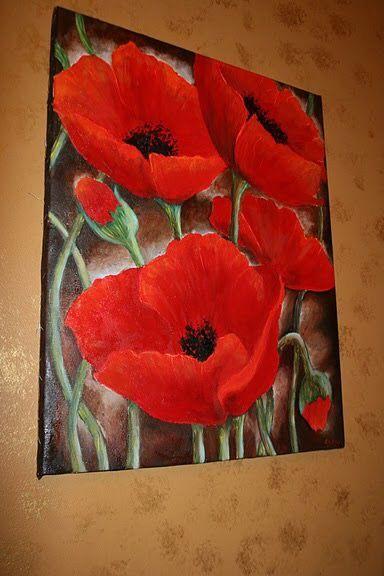 Resultado De Imagen Para Pinturas De Floreros Con Flores Rojas Y
