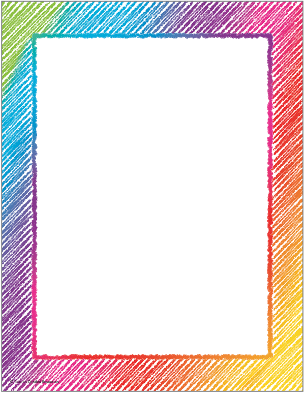 Scribble Computer Paper Page Borders Design Colorful Borders Design Frame Border Design