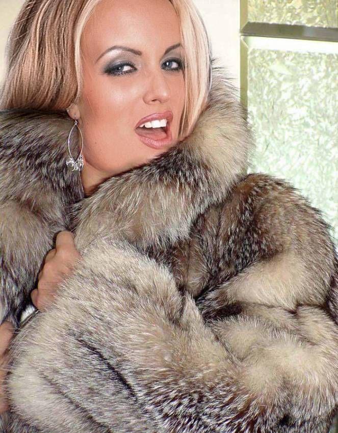 Beautiful blonde in fur coat know