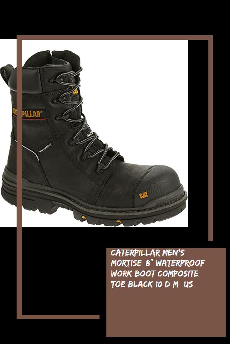 812667da387 Caterpillar Men's mortise 8″ Waterproof Work Boot Composite Toe ...