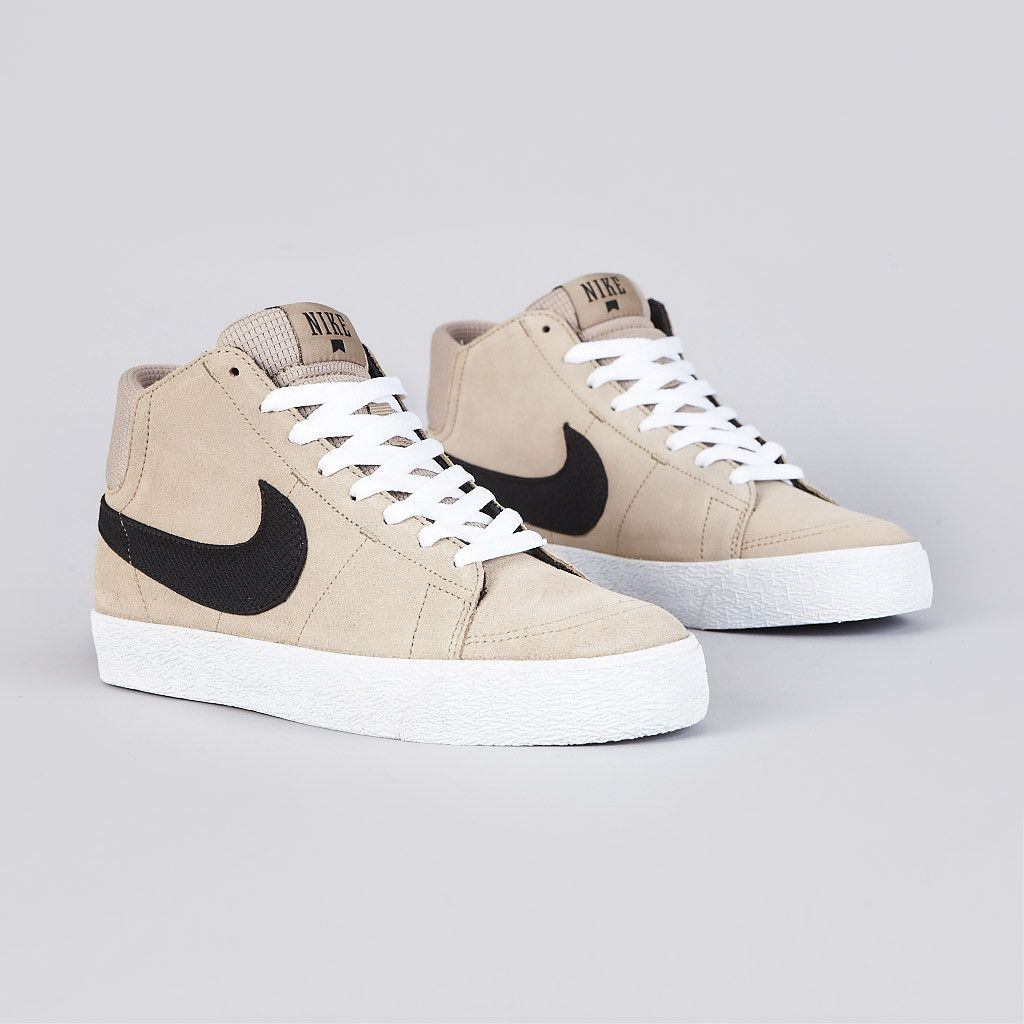 Nike Sb Blazer Mid LR Khaki / Black - White | Shoes | Pinterest | Khakis Blazers And Black