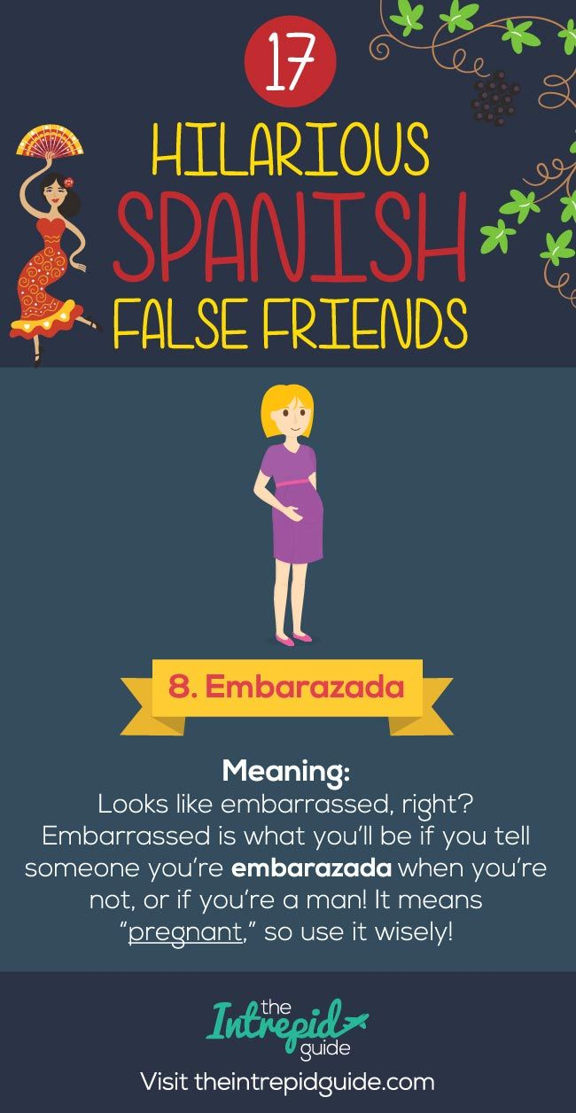 17 Embarrassingly Funny False Friends in Spanish to Avoid #spanishthings
