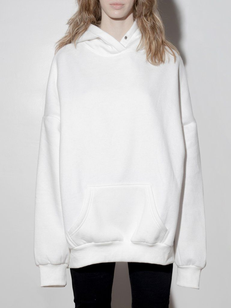 A Ok Oversized Hoodie In Ivory In Ivory By A Ok Clothes White Hoodie Tops [ 1024 x 769 Pixel ]