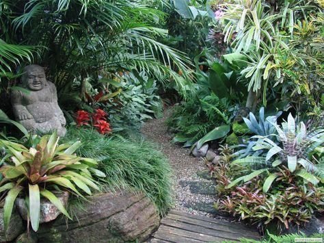 Dennis Hundscheidt S Tropical Garden Brisbane Qld Tropical Landscaping Tropical Garden Design Tropical Backyard