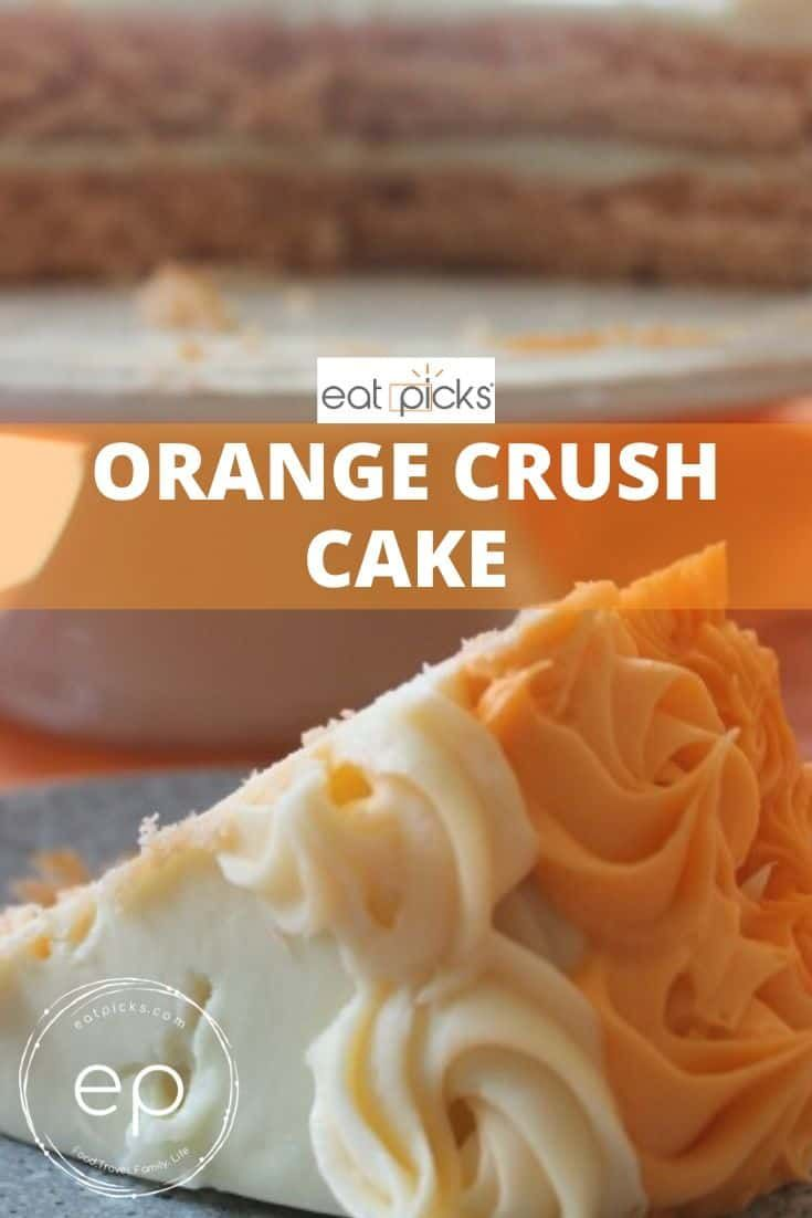 Orange crush cake is full of orange flavor and mixed with
