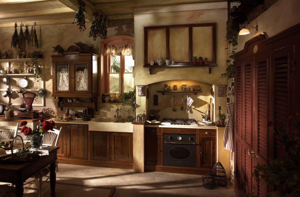Design D Interieur De Cuisine Pays Magnifique Style Avec Accent Meubles En Bois Brun Et Magnifiques Plantes Accent Insp Meuble Interieur Design Cuisines Design