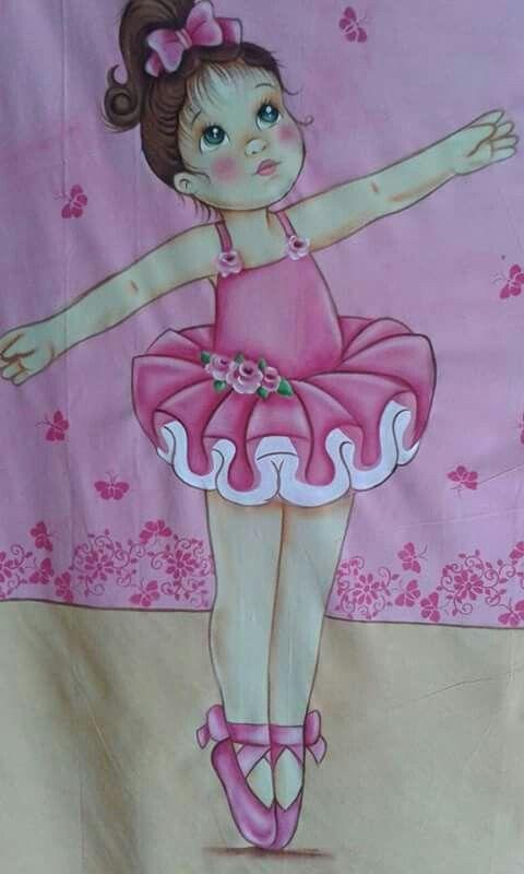 Bailarina en pintura acrílico