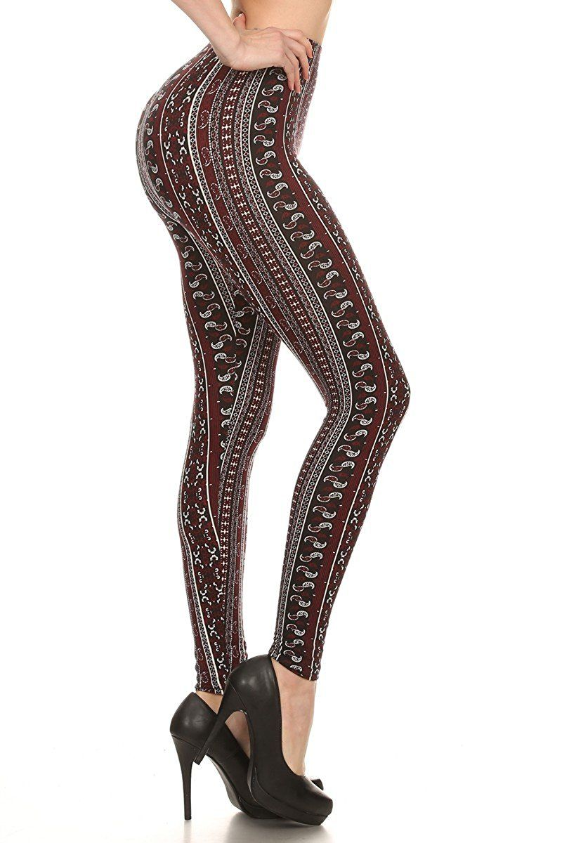 c826572d71158 Poly Brushed Aztec Print Leggings | Products | Aztec print leggings, Aztec,  Leggings