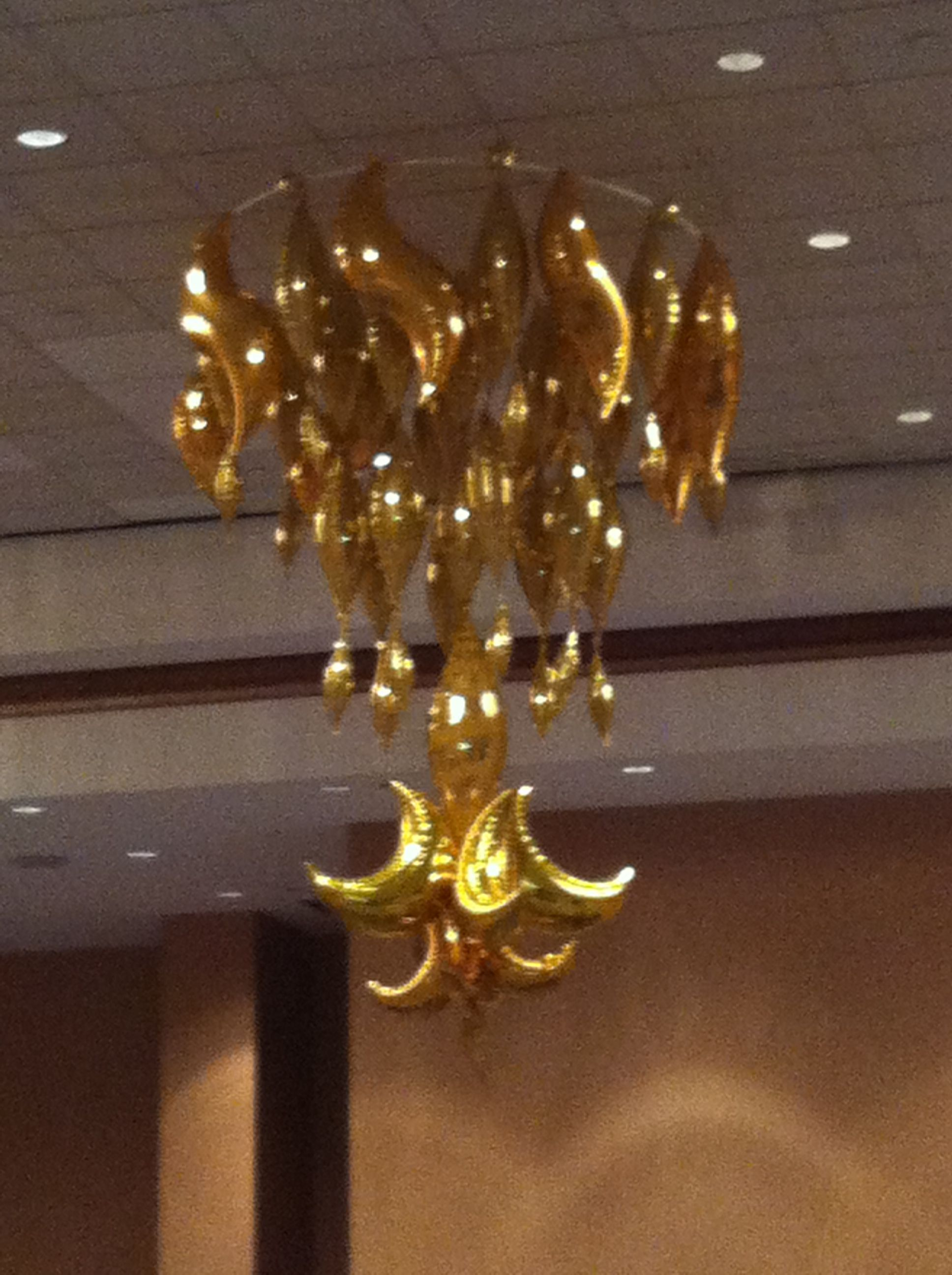 party ceiling decor that makes an impact  18 foot balloon chandelier created from tapers and