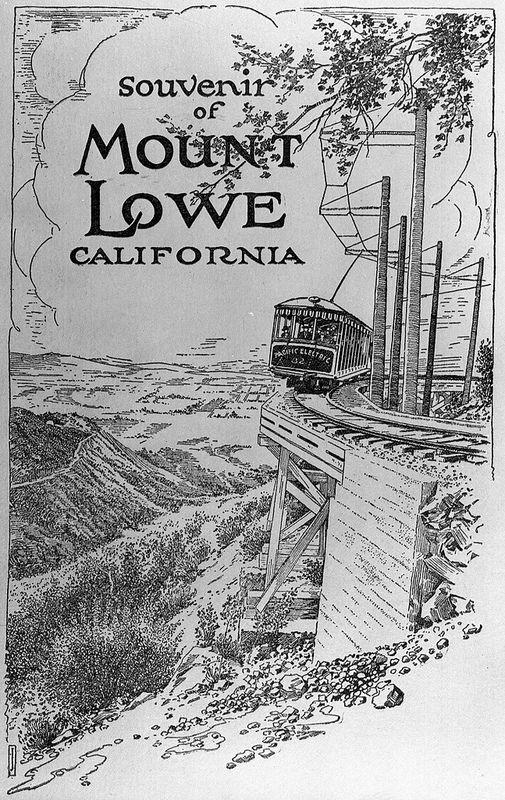 Mount Lowe Souvenir Photograph Folder California History Los Angeles Architecture San Gabriel Mountains