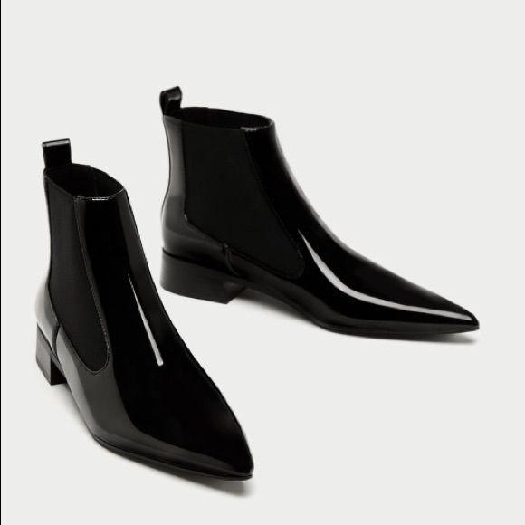 Zara Shoes | Zara Point Toe Flat Ankle Boot Brand New | Color: Black | Size: Var... -  Zara Shoes | Zara Point Toe Flat Ankle Boot Brand New | Color: Black | Size: Various  - #Ankle #anklebootsflatblack #black #Boot #Brand #color #Flat #Point #Shoes #size #Toe #Var #Zara
