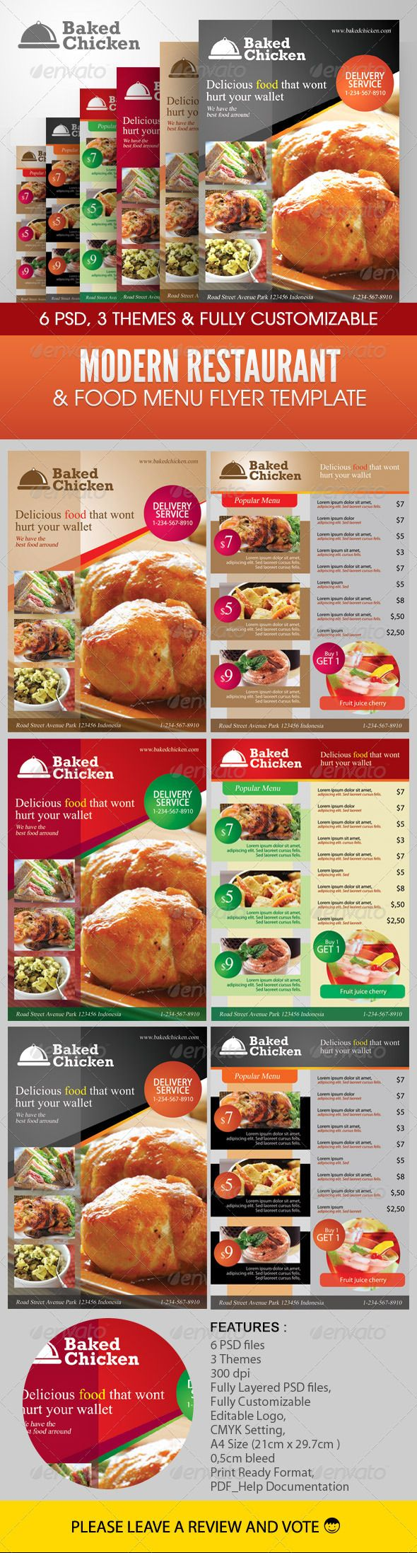 17 images about Flyer and menus – Restaurant Flyers Templates