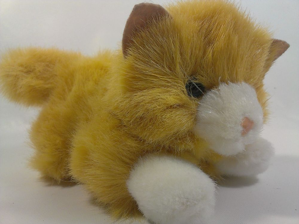 Aurora Tabby Cat Orange & White Plush Kitten Sweet Stuffed