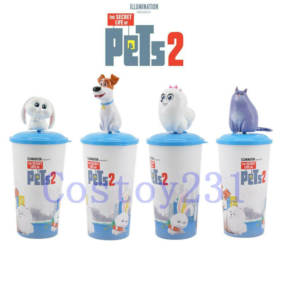 The Secret Life Of Pets 2 Topper Cup Movie Exclusive Max Snowball Gidget Chloe Ad Ad Topper Cup Pets Pet Max Dog Stuffed Animal Secret Life Of Pets
