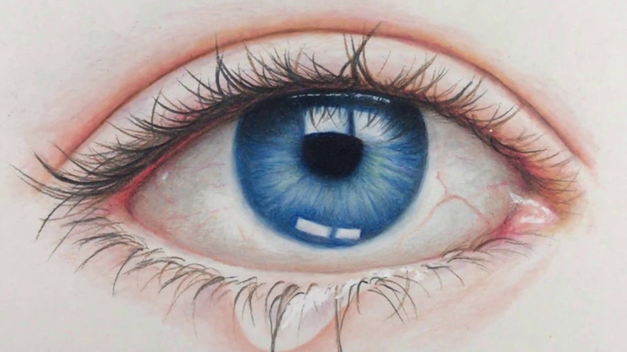 Drawing Realistic Eye Time Lapse Prismacolor Pencils Eye