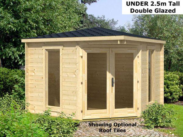 trentan edinburgh corner log cabin corner shedsgarden - Garden Sheds Edinburgh