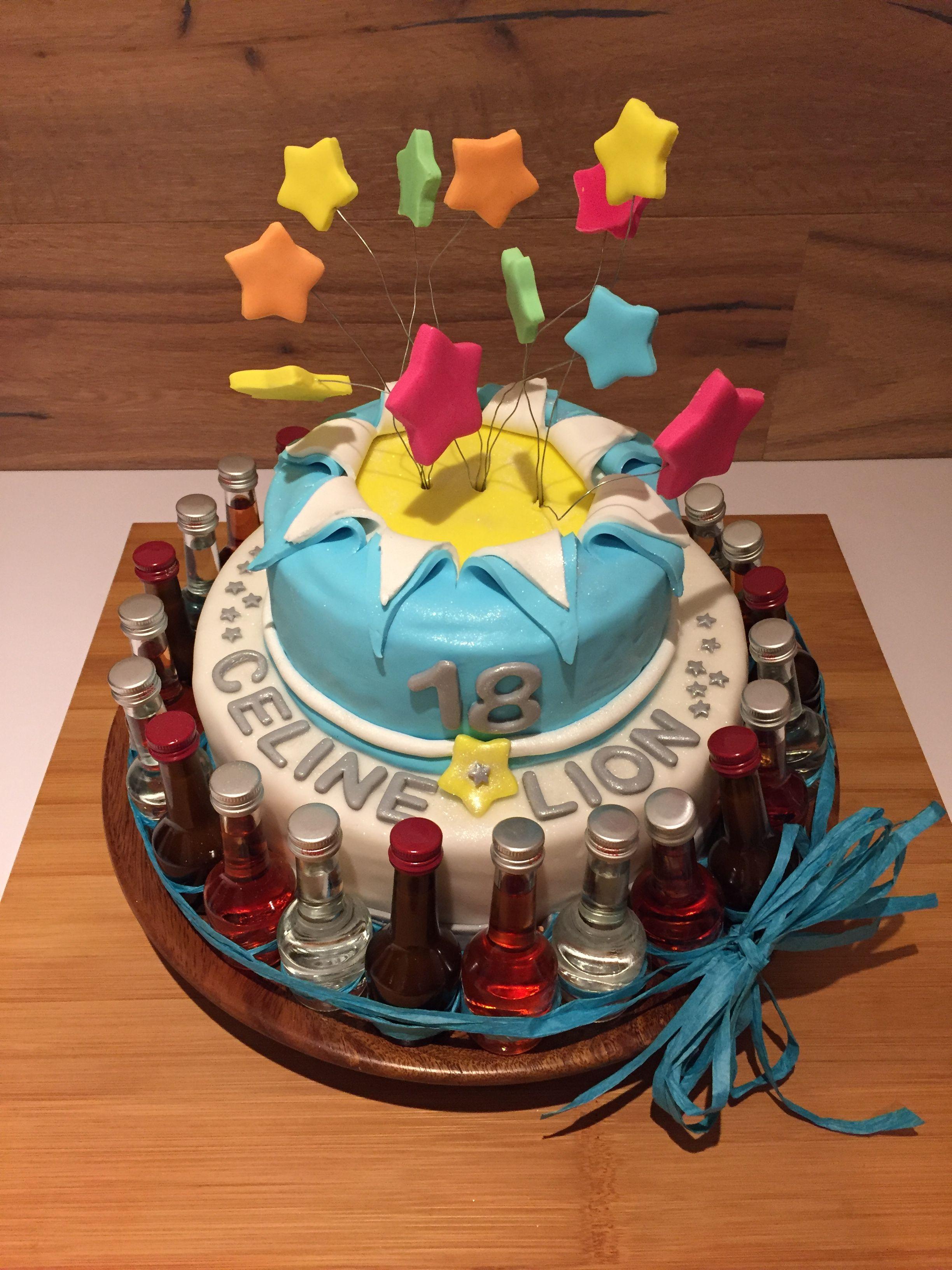 Sternen Feuerwerk zum 18 Geburtstag Motivtorte Torte