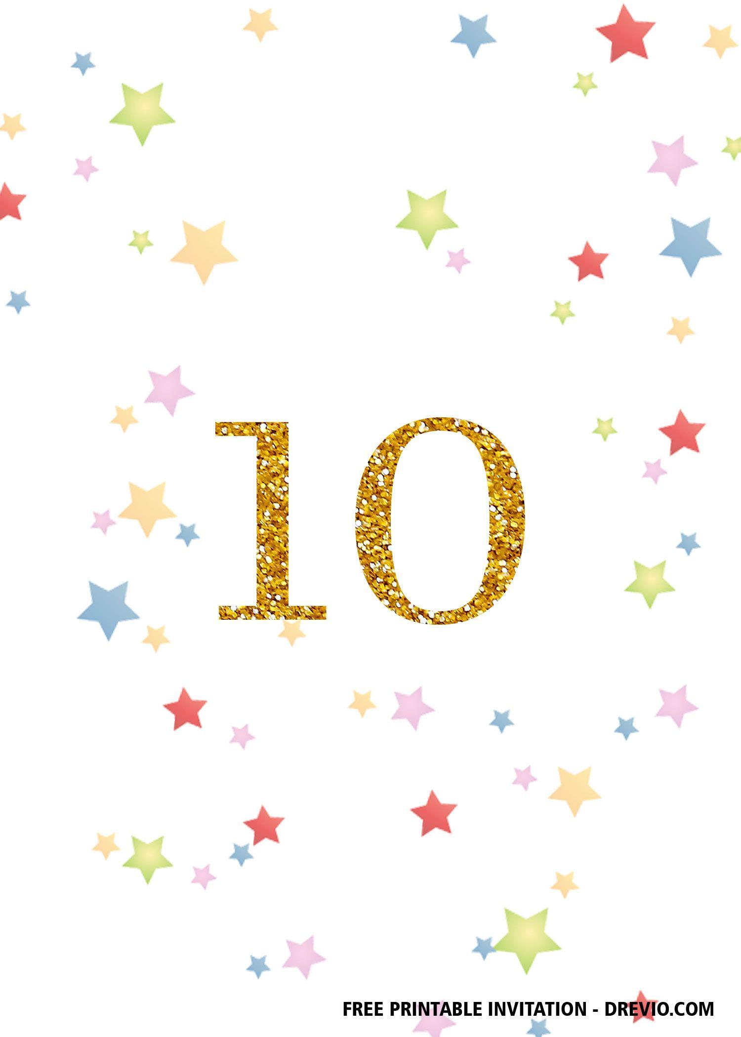 Free Printable 10th Birthday Invitation Templates Printable Birthday Invitations Free Printable Birthday Invitations 10th Birthday Invitation