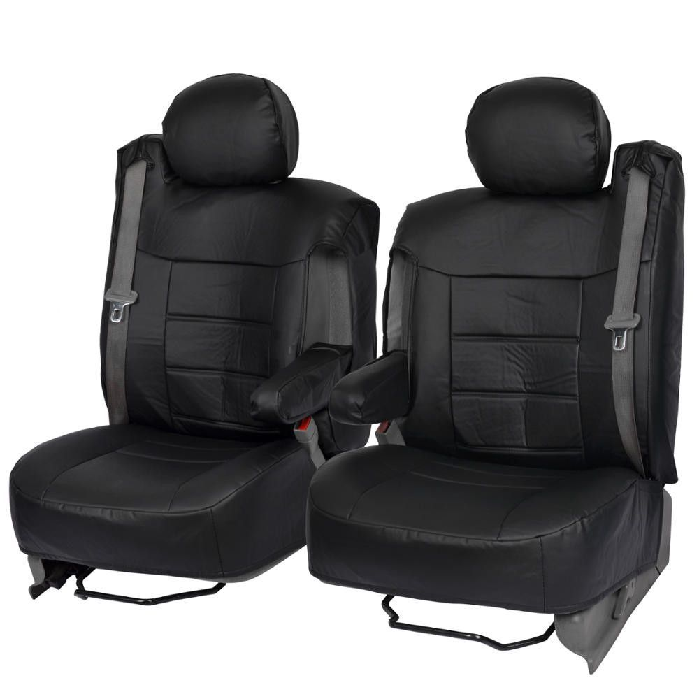 Black Custom Leatherette Fitted Seat Covers