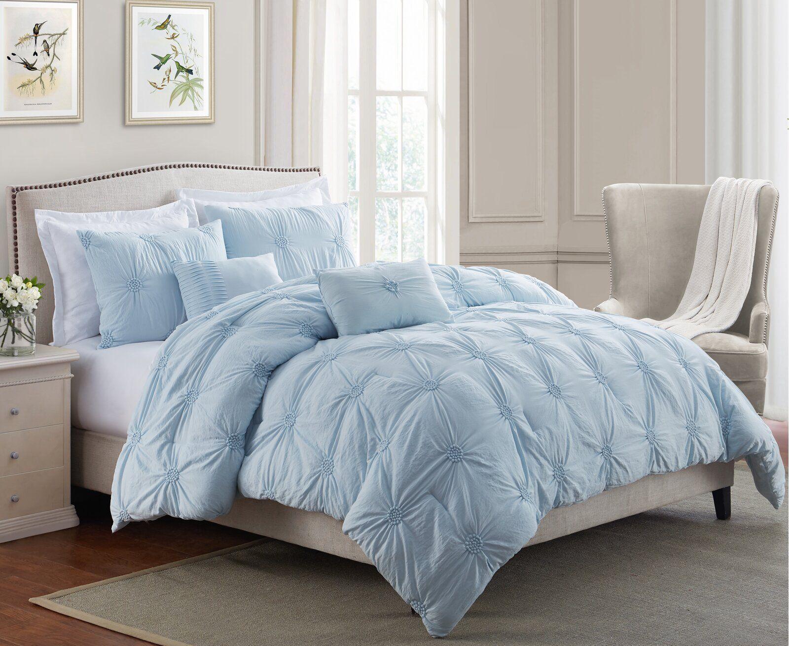 Beckman Luxurious Comforter Set In 2020 Baby Blue Bedrooms Light Blue Bedroom Comforter Sets