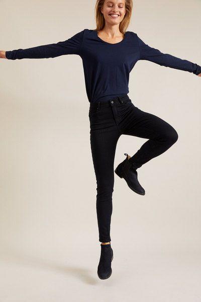 LANIUS Jeans mit hoher Taille aus Bio-Baumwolle Gots   – Products