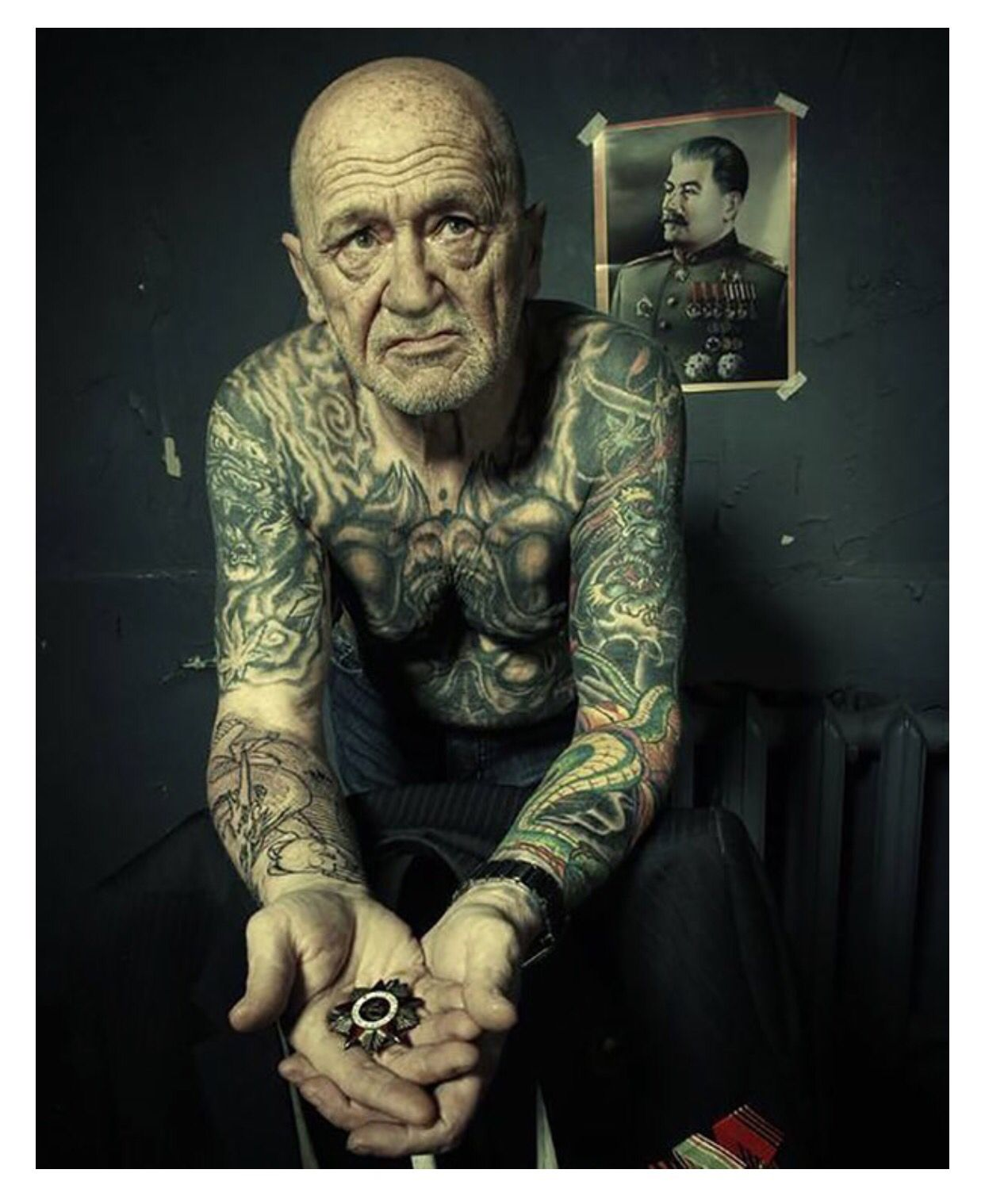 26c8c2628 Serio Old Man With Tattoos, Old Tattoos, Badass Tattoos, Tattoos For Guys,